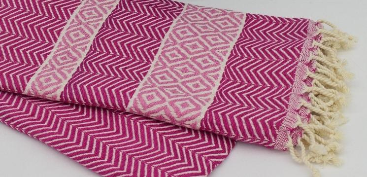 Premium Turkish Throw - Pink II