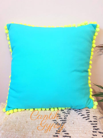 Cantik Gypsy Exclusive Cushion Cover - Aqua Covers
