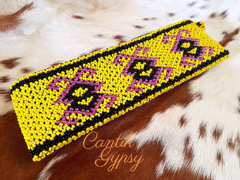 Cantik Gypsy Kuning Pouch Borneo Collection