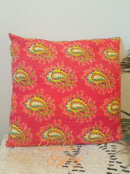 Indian Kantha Cushion Cover Covers