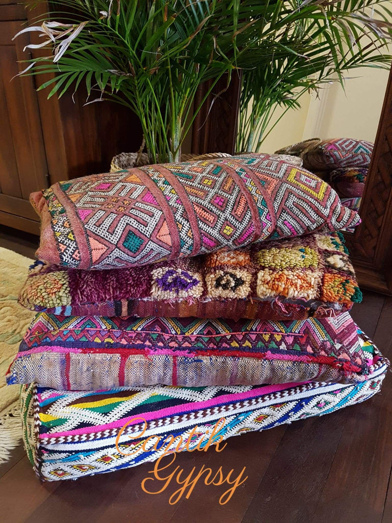 Moroccan Vintage Kilim Floor Pillow Cushion – CantikGypsy