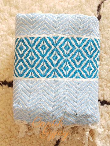Premium Turkish Towel - Ice Blue Accessories