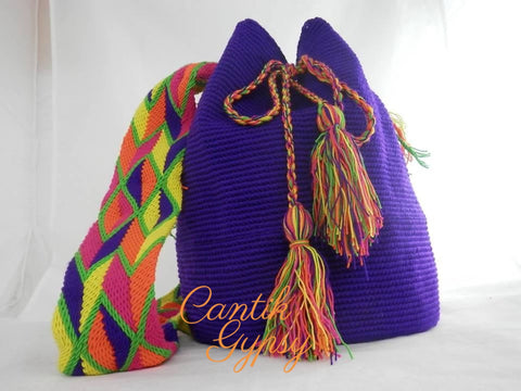 Wayuu Mochila Unicolour - Purple Accessories
