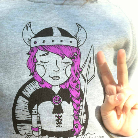Giselle the little viking - Crew Sweat