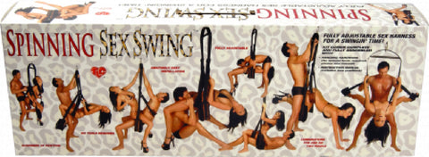 Spinning Sex Swing Topco - 360-degree rotation for increased range of motion - Durable leopard-print swing - Offers luxurious fur-lined stirrups - Includes hanging hardware and instruction manual - Kit comes complete and fully assembled - Love positions manual included