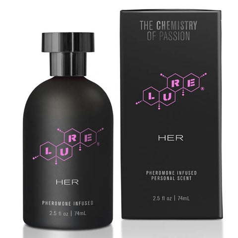 Lure Black Label for Her Topco - The latest from best-selling lure© pheromone collection - Scientifically designed pheromone-based fragrance for her - Based on the chemistry of the attractant, alpha-androstenol - Sleek packaging for sexy shelf appeal - Proudly made in the USA