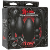 KINK Flow Full Flush Doc Johnson Experiment with slippery, messy, ass-filling fun with the Flow Full Flush deluxe anal douche kit, only available in the Kink by Doc Johnson collection. A generous 280 ml bulb connects to any of the four included attachments to completely fill that hole with lube, water, or other liquids of your choosing. Each of these four unique attachments feature different shapes, widths, and features for exploring multiple types of stimulation during liquid play. Flow Full Flush also inc