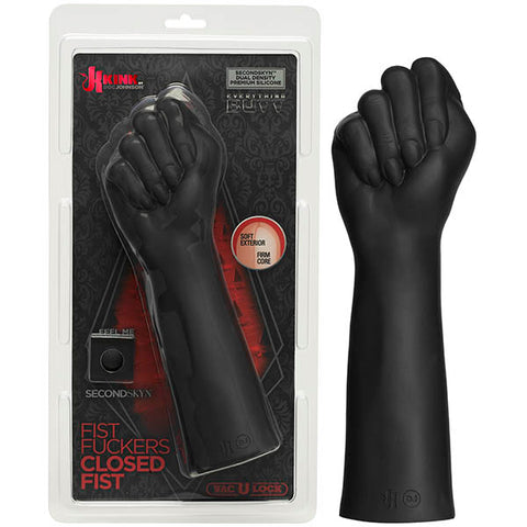 KINK Fist Fuckers - Closed Fist Doc Johnson Training and discipline call for a firm hand, and Kink by Doc Johnson delivers with the Fist Fuckers Closed Fist in dual density SECONDSKYNT silicone, an enticingly soft, flexible silicone that yields to the touch and molds to fill your every need. This lifelike fisting arm is molded from a real hand and forearm immortalized in a closed fist for extreme stretching and fullness, with a pliable exterior and firm core that feel just like the real thing. The Fist Fuck