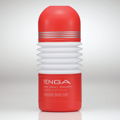 Rolling Head Cup Tenga The unique feature of the Rolling Head Cup is the ability to simultaneously massage the tip of your member with the rolling motion while doing the piston motion with the rest of the tube. Thissensation iscreated by the small rubber ball at the tip of the cup that provides an additional resistance while the flexible tube body offers a range of stimuli motion to the penis shaft. The flexible folds at the mid section of the Rolling Head Cup allows a range of powerful stimulations: up, ro