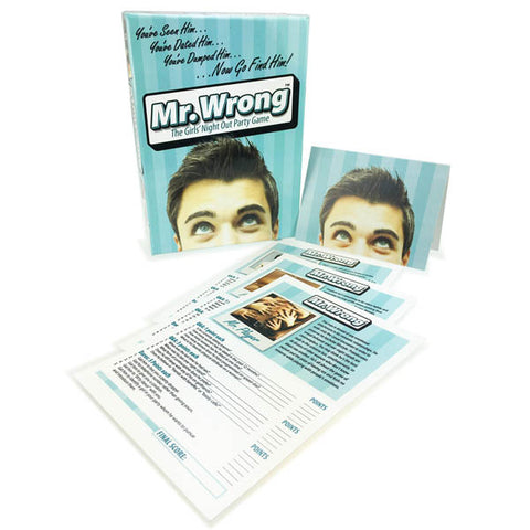 Mr. Wrong Little Genie Youve seen him, youve judged him, now go find him! This fun game helps you get to know that stranger across the bar youve been eyeing. Ask simple questions, get the answers, the harder the question the more points you can get to win this super fun, hilarious girls night out game. Game includes: 40 Mr. Wrong Cards