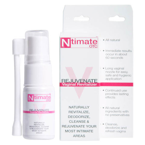 Ntimate OTC Rejuvinate Evolved Revitalise, cleanse, deodorise and refresh your most intimate areas with this body safe spray that gives you satisfying results. - All natural - Immediate results occur in about 60 seconds - Long vaginal nozzle for easy, safe and hygienic application - Continued use provides lasting effects - All natural ingredients with no preservatives - Cleanse, deodorise and refresh vagina