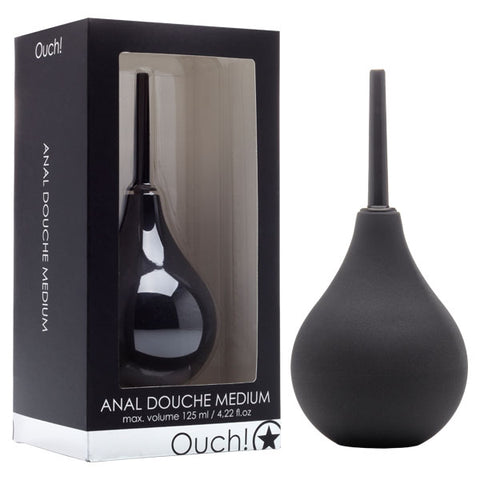 Ouch Anal Douche - Medium Shots Toys Do you like anal sex? Then you must have this Anal Douche. Use it before or after anal sex in order to clean out your anus from the inside. The Anal Douche is a handy tool with which you can clean your anus in a safe and fun way. The Anal Douche is suitable for him and her. Fill the reservoir with lukewarm water and squeeze the ball in order to spray the liquid. Carefully insert the Anal Douche into your anus and squeeze the reservoir until its empty. Now press all the l