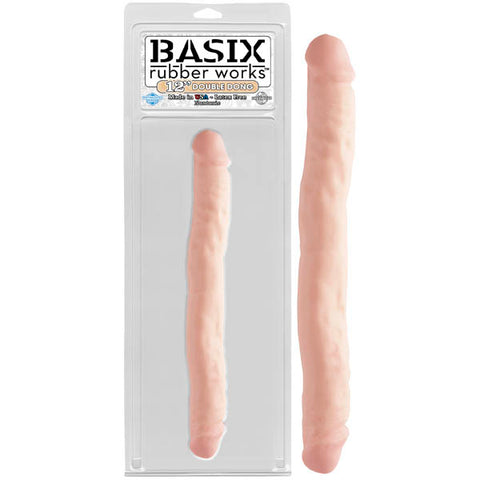 Basix Rubber Works 12 Double Dong Pipedream Pipedream has put a new twist on a classic product to bring you the best possible rubber made in the USA. Our American-made rubber is 100% phthalates and latex-free, environmentally safe and hypoallergenic. We hope you enjoy using this product as much as we like making it!