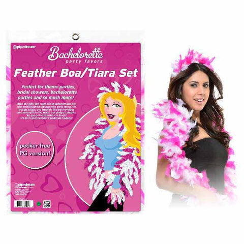 Bachelorette Party Favors Feather Tiara And Boa Set