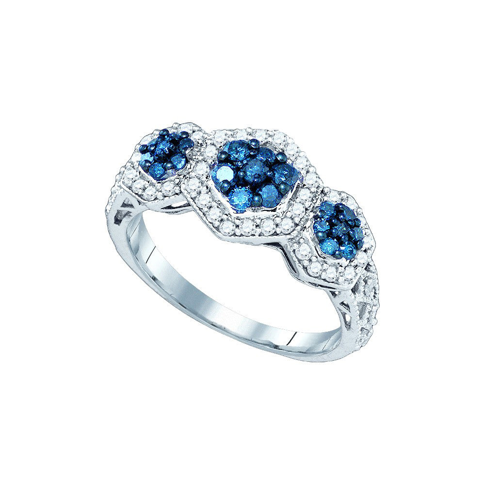 irradiated blue size diamond rings wedding rare engagement ct platinum of tiffany ring full colored teal sapphire