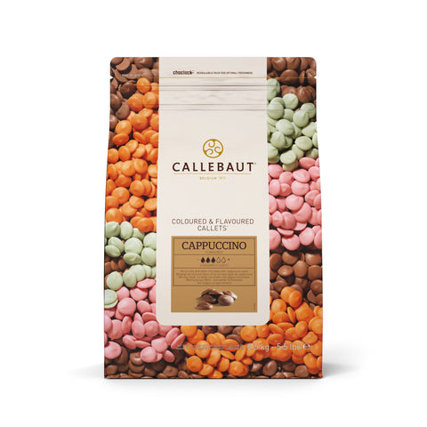 CALLEBAUT, CAPPUCCINO MILK/WHITE CHOCOLATES, 2.5KG