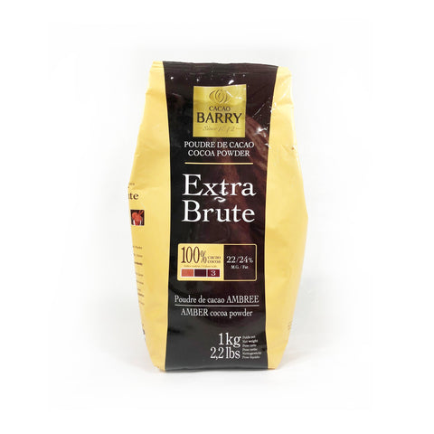 CACAO BARRY COCOA POWDER EXTRA BRUTE 100% (1KG)