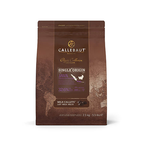 CALLEBAUT JAVA MILK ORIGINE COUVERTURE 32.9% (2.5KG)