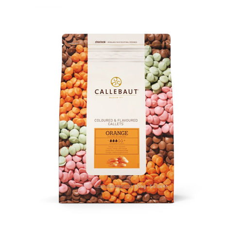 CALLEBAUT, ORANGE CHOCOLATE CALLETS