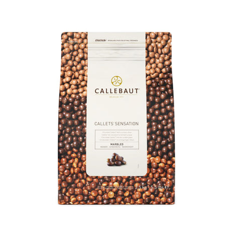 CALLEBAUT SENSATION MARBLED SHINY PEARLS CALLETS (2..5KG)