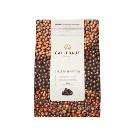 CALLEBAUT SENSATION MILK SHINY PEARLS 33.6% CALLETS (2.5KG)