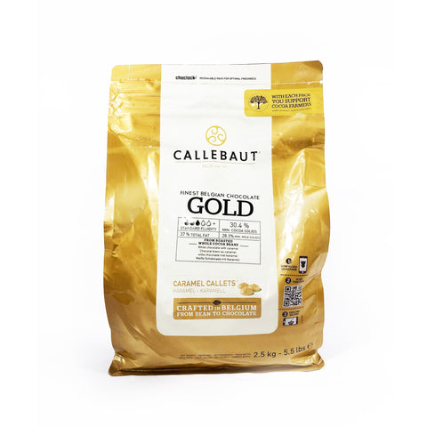 CALLEBAUT GOLD WHITE CHOC. WITH CARAMEL (2.5KG)