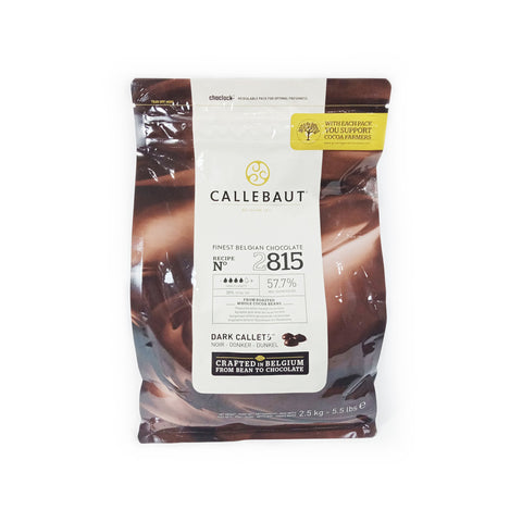 CALLEBAUT 2815 DARK COUVERTURE CHOCOLATE CALLETS (2.5KG)