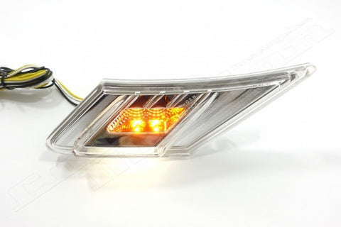 Scion FR-S, Subaru BRZ, Toyota 86 White/Amber LED Side Marker Blinker Lights with Clear Lens | PAIR