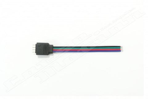 5pcs/Lot 10CM RGB 4pin Male Connector Wire Cable For RGB Led strip 5050 3528,Male Type 4 Pin Needle Connector | 5pcs