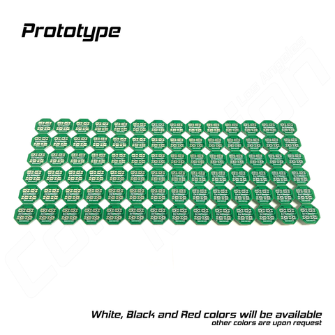1 Panel (14x6), PCB Only, 2 Color, 0.5W, 4 LED ver (2x2), Custom build PCB