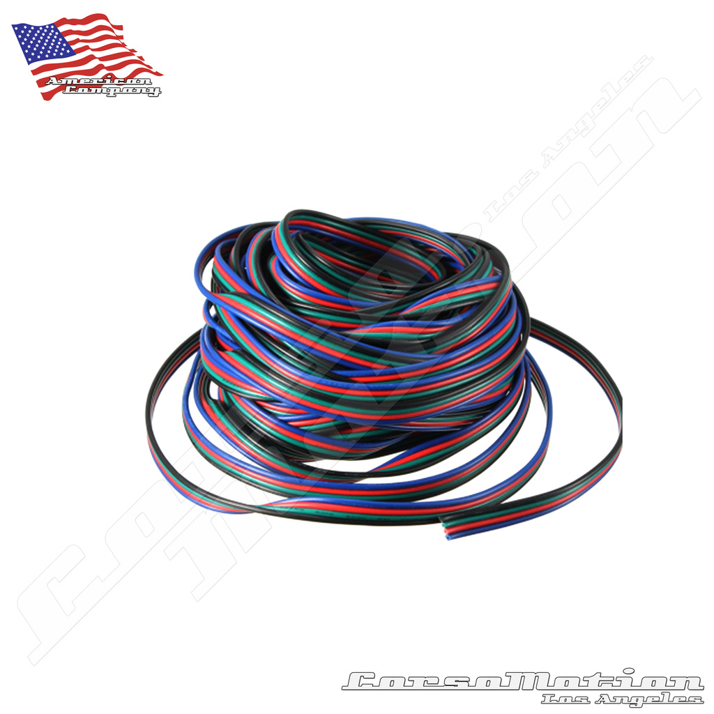10pcs/Lot 4pin 10MM RGB Led Connector Wire Female Connector