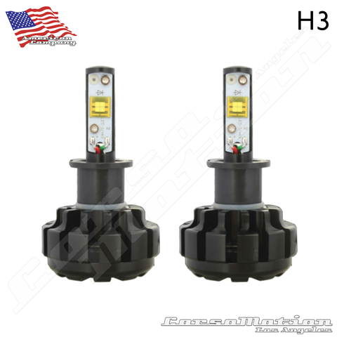 H3 CREE LED Headlights, 60W/Set, 7200LM/Set, 12V 24V | PAIR