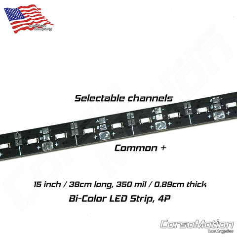 Bi-Color LED Strip, 4P x 19Ch, 15000x350mil