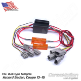 Plug and Play LED reflector control modules, load resistors | PAIR, for 9th Honda Accord Coupe taillights