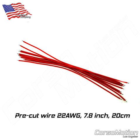 Pre-cut wire RED 22AWG 7.8inch/20cm