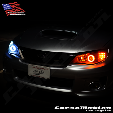 CorsoMotion Subaru Impreza WRX Sti custom LED headlights 08 09 10 11 12 13 14 | PAIR