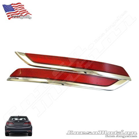 LED rear bumper reflectors for Acura TLX sedan, 15 16 17
