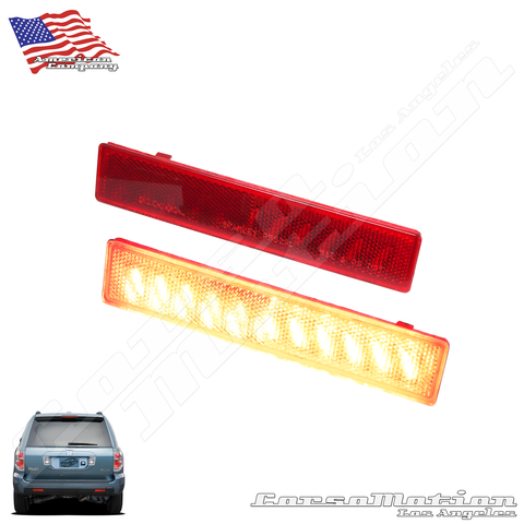 Honda Pilot POWER LED rear bumper reflectors in OEM Housing, 06 07 08