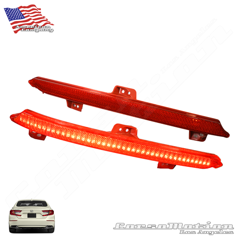 Honda Accord POWER LED rear bumper reflectors in OEM Housing, 18 19 20