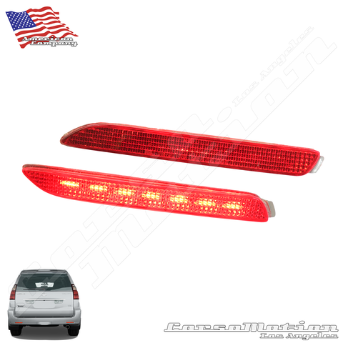 Lexus GX470 POWER LED rear bumper reflectors in OEM Housing, 07 08