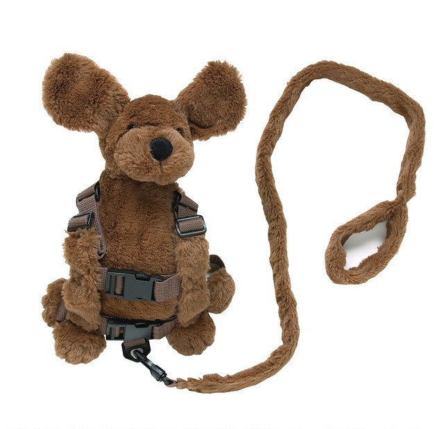 Playette 2 in 1 Harness Buddy - Hamish Fluffy Dog