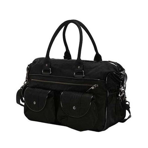OiOi Nylon Patent Trim Travel Nappy Bag