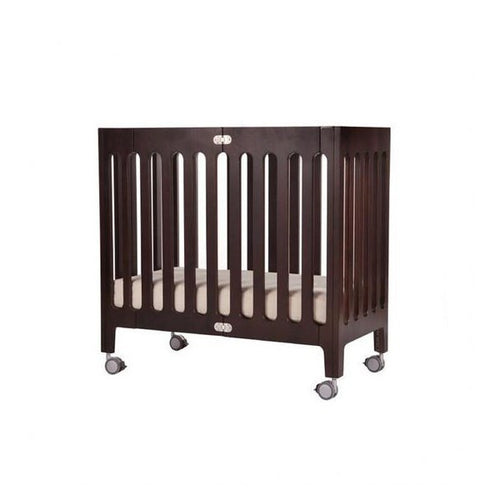 Alma Mini Urban Crib - Cappuccino