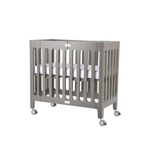 Alma Mini Urban Crib - Frost Grey