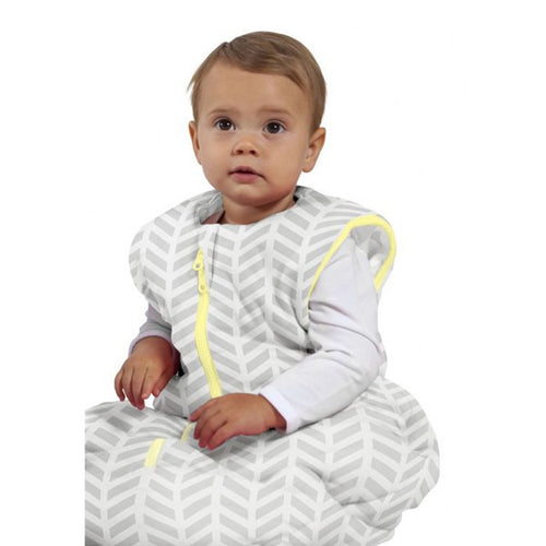 Baby Studio Baby Sleeping Bag - Grey Zig Zag - 6-18 Months