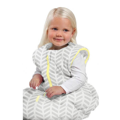 Baby Studio Toddler Sleeping Bag - Grey Zig Zag - 18-36 Months