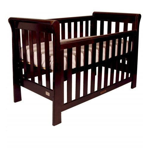 Babyhood Sandton Sleigh 4 in 1 Cot - Oak