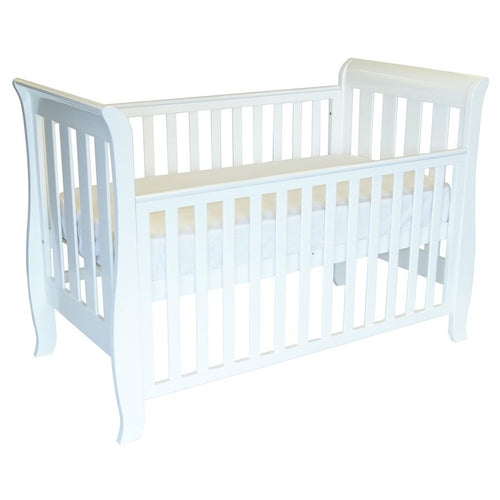 Babyhood Classic Sleigh Cot 4 in 1 - White
