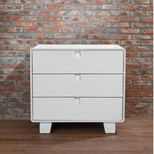 Bloom Retro Dresser - Coconut White
