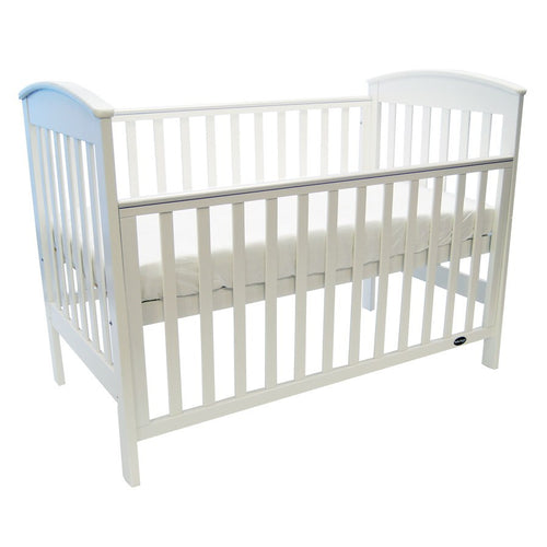 Babyhood Classic Curve Cot - White